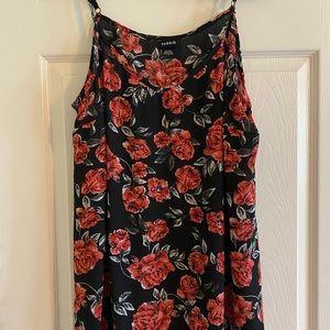 Torrid Size 1 Black Roses Floral Cami